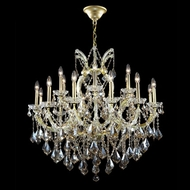 James Moder 40258GL4GT Impact Maria Theresa Collection Gold Lustre Hanging Chandelier