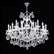 James Moder 40258S22 Impact Maria Theresa Collection Silver Chandelier Light