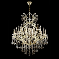 James Moder 40259GL4GT Impact Maria Theresa Collection Gold Lustre Chandelier Lighting