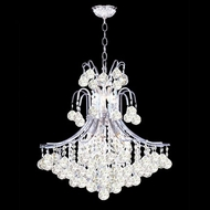 James Moder 40316S22 Impact Cascade Collection Silver Hanging Chandelier