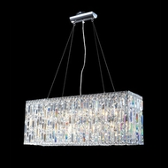 James Moder 40337S22 Impact Linear Collection Silver Halogen Kitchen Island Light