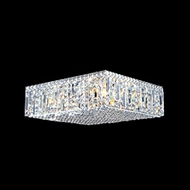James Moder 40345S22 Impact Linear Collection Silver Halogen Ceiling Light Fixture