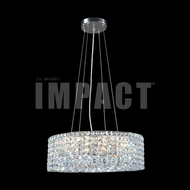 James Moder 40398 Silver Drum Pendant Lamp