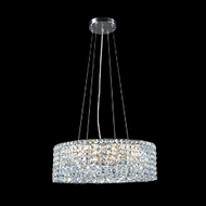 James Moder 40398S22 Impact Rondelle Collection Silver Halogen 24  Hanging Lamp