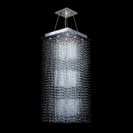 James Moder 40403S22 Impact Crystal Rain Collection Silver Halogen Multi Hanging Light