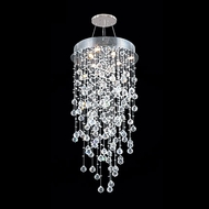 James Moder 40411S22 Impact Crystal Rain Collection Silver Halogen Multi Pendant Lighting Fixture