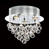 James Moder 40413S22 Crystal Rain Silver Halogen Flush Mount Light Fixture
