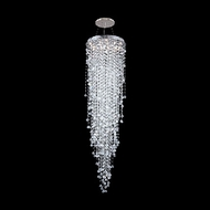 James Moder 40418S22 Impact Crystal Rain Collection Silver Halogen Multi Hanging Pendant Light