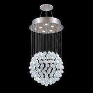 James Moder 40421S22 Impact Crystal Rain Collection Silver Halogen Multi Pendant Hanging Light