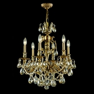 James Moder 40436PG2GT Impact La Paris Collection Paris Gold Mini Chandelier Light