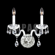 James Moder 40462 Place Ice Crystal Silver Lighting Sconce