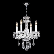 James Moder 40464S44 Impact Palace Ice Collection Silver Mini Chandelier Lighting
