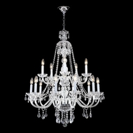 James Moder 40470S44 Impact Palace Ice Collection Silver Hanging Chandelier