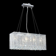 James Moder 40510S22 Impact Contemporary Collection Silver Halogen Island Lighting