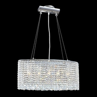 James Moder 40520S22 Impact Contemporary Collection Silver Halogen Kitchen Island Lighting