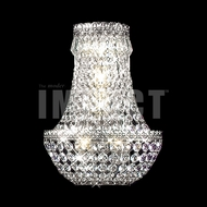 James Moder 40531S Imperial Crystal Silver Wall Sconce Lighting