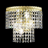 James Moder 40534 Imperial Crystal Gold Lighting Wall Sconce