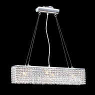 James Moder 40583S22 Impact Contemporary Collection Silver Halogen Kitchen Island Light