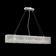 James Moder 40586S22 Impact Contemporary Collection Silver Halogen Island Light Fixture