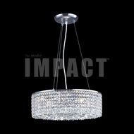 James Moder 40593 Silver Drum Hanging Lamp