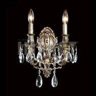 James Moder 40612 Brindisi Crystal Monaco Bronze Wall Lighting Sconce