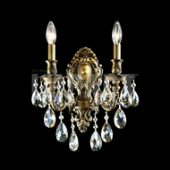 James Moder 40612GT Brindisi Crystal Monaco Bronze Wall Sconce Lighting