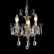 James Moder 40613MB22 Brindisi Crystal Monaco Bronze Mini Lighting Chandelier / Ceiling Light