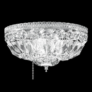 James Moder 40622S22 Crystal Silver Flush Ceiling Light Fixture