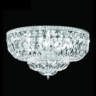 James Moder 40654S22 Impact Flush Mount Collection Silver Home Ceiling Lighting