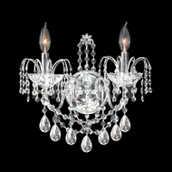 James Moder 40722 Regalia Crystal Silver Wall Sconce