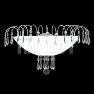James Moder 40873 Crystal Rain Silver Light Sconce