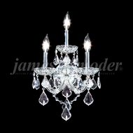 James Moder 91703 Maria Theresa Grand Crystal Silver Lighting Wall Sconce