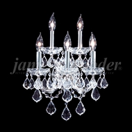 James Moder 91705 Maria Theresa Grand Crystal Silver Wall Lighting Sconce