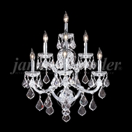 James Moder 91807 Maria Theresa Grand Crystal Silver Wall Sconce Lighting