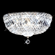 James Moder 92314S22 Prestige Crystal Silver Flush Ceiling Light Fixture