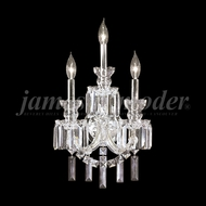 James Moder 93943 Buckingham Crystal Silver Wall Sconce Light