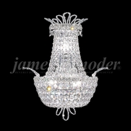 James Moder 94108 Princess Crystal Silver Wall Lamp