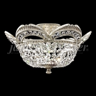 James Moder 94344 Dynasty Cast Brass Crystal Pewter Ceiling Lighting Fixture