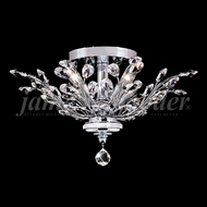 James Moder 94454 Florale Crystal Silver Ceiling Light Fixture