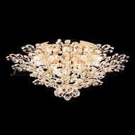 James Moder 94455G22 Florale Crystal Gold Flush Lighting