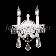 James Moder 94702 Maria Theresa Royal Crystal Silver Wall Light Fixture