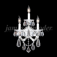 James Moder 94703 Maria Theresa Royal Crystal Silver Lighting Wall Sconce