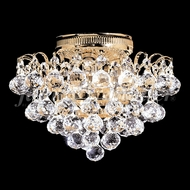 James Moder 94801G22 Jacqueline Crystal Gold Flush Mount Lighting