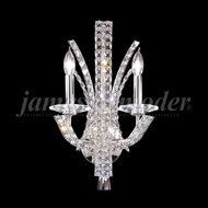 James Moder 95632 Eclipse Fashion Crystal Silver Wall Light Sconce