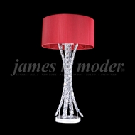 James Moder 95641 Eclipse Fashion Crystal Silver Table Top Lamp