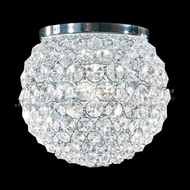 James Moder 95952S22 Sun Sphere Crystal Silver Flush Mount Lighting Fixture