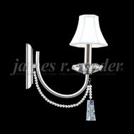 James Moder 96011 Pearl Crystal Silver Wall Sconce Light
