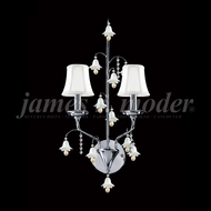 James Moder 96321-97 Murano Crystal Silver Wall Light Sconce