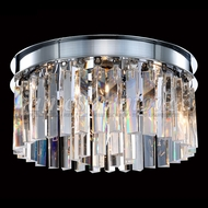 James Moder 96334S22 Europa Crystal Flush Mount Ceiling Light Fixture