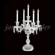 James Moder 96405 Crystal Silver Table Lamp